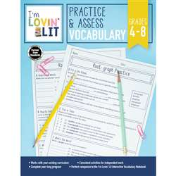 Im Lovin Lit Vocabulary Gr 4-8 Practice & Assess, CD-105005