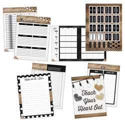 Industrial Chic Teacher Plan Book, CD-105022