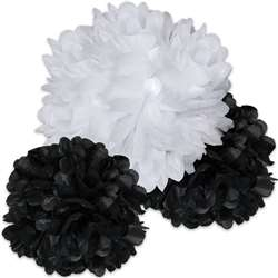 Black And White Pom Poms, CD-107004