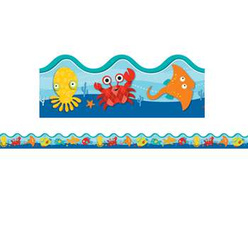 Shop Seaside Splash Scalloped Border - Cd-108181 By Carson Dellosa