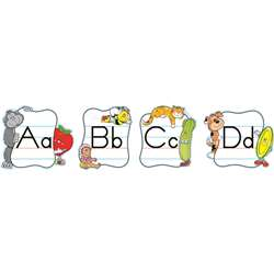 Alphabet Traditional Manuscript Mini Bulletin Board Set By Carson Dellosa