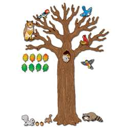 Big Tree W/ Animals Bulletin Board Sets K-5 By Carson Dellosa