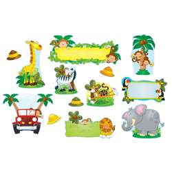 Jungle Safari Bulletin Board Set By Carson Dellosa