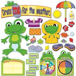Funky Frog Weather Bulletin Board Set By Carson Dellosa