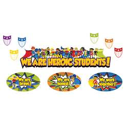 Super Power Heroic Students Bulletin Board Set, CD-110314