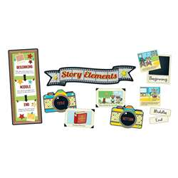 Hipster Story Elements Bulletin Board Set, CD-110335