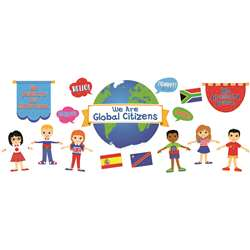 We Are Global Citizens Bulletin Board Set Gr Pk-5 , CD-110346
