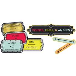 Points Lines And Angles Bulletin Board Set Gr 3-5 , CD-110347