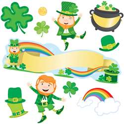 St Patricks Day Mini Bulletin Board Set Gr Pk-5, CD-110351