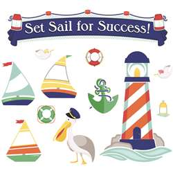 Set Sail For Success Bulletin Board Set Gr Pk-5 De, CD-110357