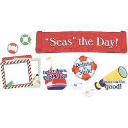 Seas The Day Mini Bulletin Board Set Grpk-5, CD-110358