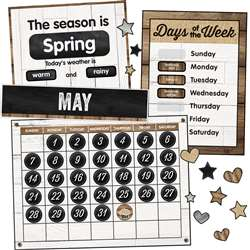 Industrial Chic Calendar Bulletin Board Set School, CD-110398