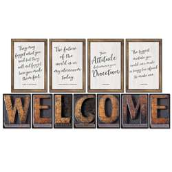 Industrial Chic Welcome Bulletin Board Set School , CD-110401