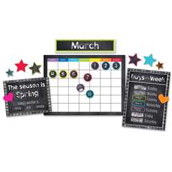 Stars Calendar Bulletin Board Set School Girl Styl, CD-110404
