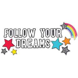 Stars Follow Your Dreams Bulletin Board Set School, CD-110405
