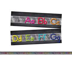 Star Alphabet Line Manuscript Mini Bulletin Board , CD-110407