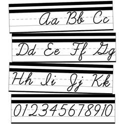 Alphabet Line Cursive Mini Bulletin Board St Simpl, CD-110411