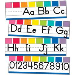 Alphabet Line Manuscript Mini Bulletin Board St He, CD-110419