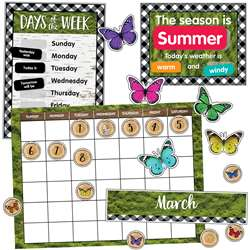 Calendar Bulletin Board Set Woodland Whimsy, CD-110424