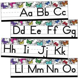 Alphabet Line Manuscript Mini Bulletin Board St Wo, CD-110428