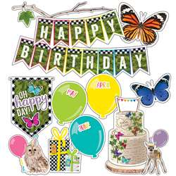 Birthday Mini Bulletin Board Set Woodland Whimsy, CD-110430