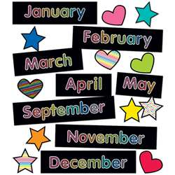 Months Of The Year Mini Bulletin Board St Just Tea, CD-110431