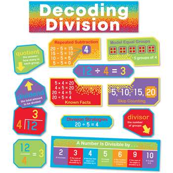 Decoding Division Mini Bulletin Board St, CD-110445