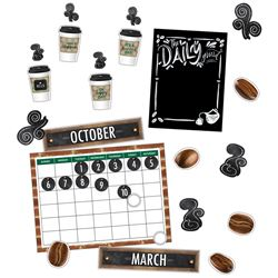 Calendar Bulletin Board Set Industrial Cafe, CD-110479