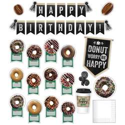 Birthday Bulletin Board Set Industrial Cafe, CD-110482