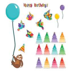 Birthday Mini Bulletin Board Set One World, CD-110490