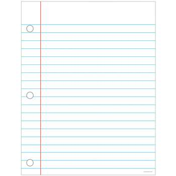 Notebook Paper Chart 17X22 By Carson Dellosa
