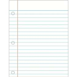 Notebook Paper Laminated Chartlet By Carson Dellosa