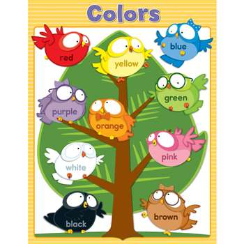 Owl Pals Colors Chartlet Gr Pk-1, CD-114122