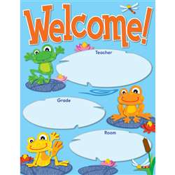 Funky Frogs Welcome Chart By Carson Dellosa