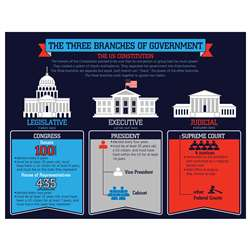 Three Branches Of Government Chart, CD-114215