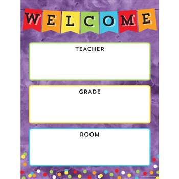 Celebrate Learning Welcome Chart, CD-114238
