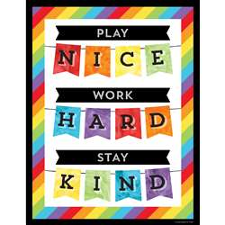 Play Nice Work Hard Stay Kind Chart, CD-114241