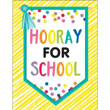 Just Teach Hooray For School Chart, CD-114269
