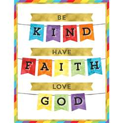 Be Kind Have Faith Love God Chart, CD-114283