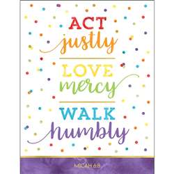 Act Justly Love Mercy Walk Humbly Chart, CD-114287