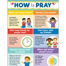 How To Pray Chart, CD-114292