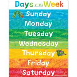 Eric Carle Days Of The Week Chart, CD-114299