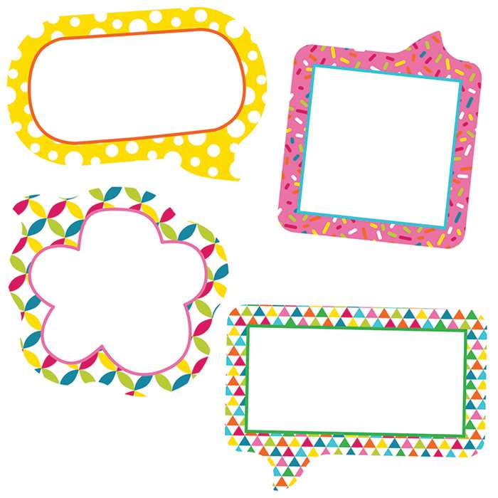 School Pop Small Speech Bubbles Cut Outs, CD-120212