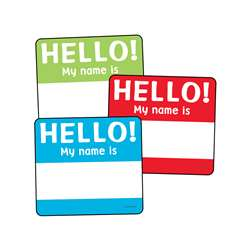 Colorful Cutouts Hello Tags Asst Designs, CD-120224