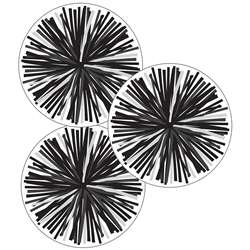 Black & White Poms Cut-Outs Simply Stylish, CD-120554