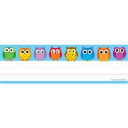 Colorful Owls Nameplates 36Ct By Carson Dellosa