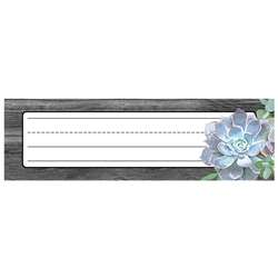 Simply Stylish Succulent Nameplates, CD-122041