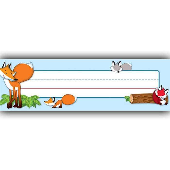 Playful Foxes Name Plates, CD-122122
