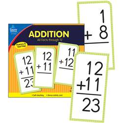 Addition Facts Thru 12 Flash Cards, CD-134053