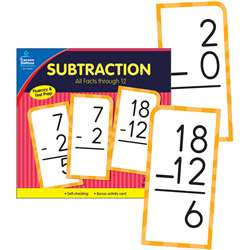 Subtract Facts Thru 12 Flash Cards, CD-134054